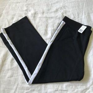 L-RL Lauren Active // New! XL Black Track Pants